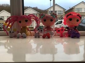 Set of 3 LaLa Loopsy Dolls & Pets