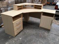 Corner desk unit. Separate drawer and cupboard