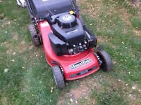 Mountfield self propelled petrol lawn mower. In good condition and good working order.