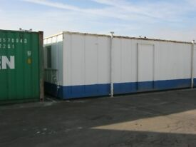32ft x 10ft Anti Vandal Portable Cabin Site Office Welfare Unit WITH KITCHEN shipping container shed