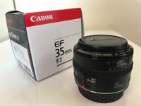Canon EF 35mm f/2 Prime Lens boxed