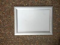 5x A4 Silver Snap Frames Aluminium Clip Retail Shop Wall Poster Displays