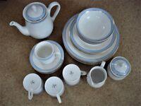 "Royal Doulton ""Regency Gold"" 23 Piece Dinner / Tea Set - Never Been Used"
