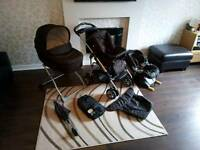 Mamas and papas MPX travel system with isofix base