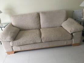 Excellent cream beige Fabric sofa suite