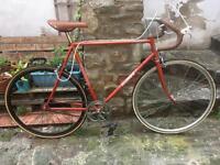 Vintage steel frame road bike singlespeed