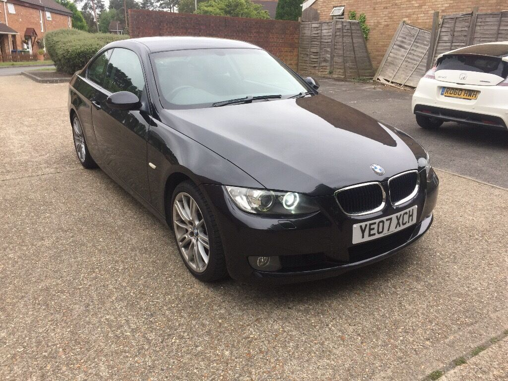 bmw 2007 3 series 320i e92 black coupe petrol manual se in bracknell berkshire gumtree. Black Bedroom Furniture Sets. Home Design Ideas