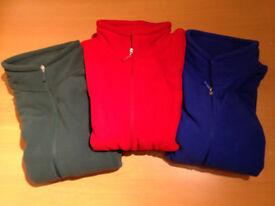 SG80 Mens New Unisex Fleece Red Green Blue