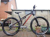 "2015 Whyte M-109 cs Carbon Full Suspension Mountain Bike 18"" Medium Frame 29"" 29er wheel XC Enduro"
