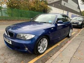 2009 BMW 1 SERIES 118D M SPORT 2.0 DIESEL. 6 SPEED. HALF LEATHERS. BLUE TOOTH. ALLOYS. A/C. £30 TAX