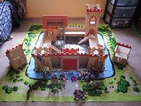 ELC Wooden Castle, knights, horses, play mat plus more