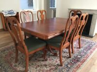Quality Extendable dining table, 8 Chairs, Dresser, Coffee table, Sofa Bed at Bargain price