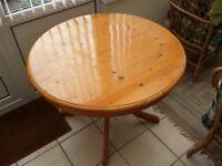40 inch diameter Pine Table