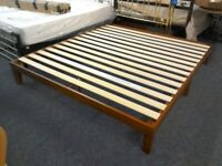New Solid Cherry Wood Kingsize Bed Frame #39980 £89