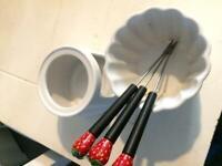 Fondue for melting chocolate kitchen home, grater, karcher ,
