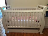 Boori White Sleigh Cot Bed