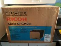 Ricoh Aficio SP C240DN Laser Colour Printer brand new and sealed