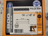 PULSA 800 NAILS & GAS NEW 40mm,22mm,20mm,17mm,15mm gas best before May 2018