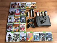 Microsoft Xbox 360 120GB Black Console, 21 Games, 2 Controllers, 2 Microphones