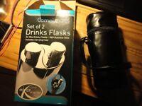 GRUNWERG COMPLIMATES 18/8 stainless steel flask x2