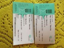 2 X Just Beatles Tivoli Tickets Sat 4th Nov Row B Stalls