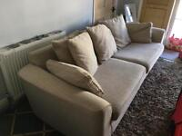 Large sofa cream & beige