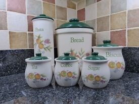 Set of 6 Storage Jars