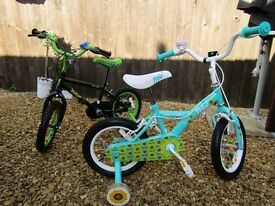 kids bikes 14 inch PETAL and CLAWS,30quid each pickup only