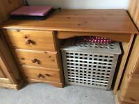 Solid wood pine desk/ dresser table