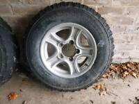 Used 4x4 wheels (Suzuki vitara)