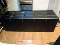 💥💥 URGENT NEEDS TO GO THIS WEEK!! black blanket box faux leather💥💥