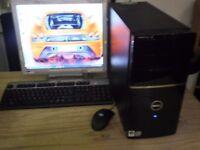 "Win 10 pro, 64 bit, intel core 2 duo e7300 2.66ghz 320 gb hdd, wi-fi, 17"" flat screen, key, mouse,"