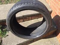 255/35/ZR19 tyre focus 9000 part worn dot 2412