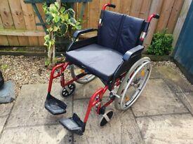 20 Inch Wide Lightweight Self Propel Drive Enigma Wheelchair - Removable Rear Wheels on wheel chair