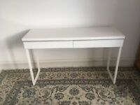 Small white desk. IKEA Besta Burs.