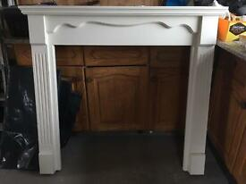 Painted hardwood fire surround