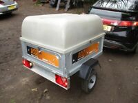 ERDE 102 CLASSIC GOODS TRAILER WITH HIGH PLASTIC DOME TOP........