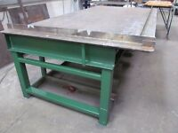 Massive Welder's Fabrication Steel Topped Bench (made from girders!)