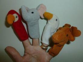Finger puppets - set of twelve animals