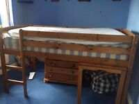BUNKBED SOLID PINE QUICK SALE £50.