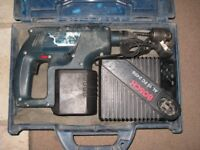 Bosch 24V Cordless Drill with quick charger sds chuck with chuck adapter