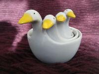 Geese ceramic measuring cup set of 4
