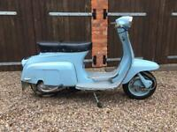 1966 lambretta starstream 125 4 speed scooter 1338 miles original paint mot uk registered 125cc