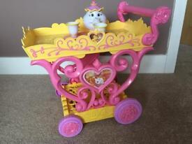 Belle Disney musical tea trolley