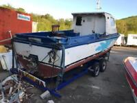 Boat 22 foot with Diesel engine. Need it away as need the space.