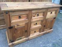 Solid pine sideboard. I can deliver