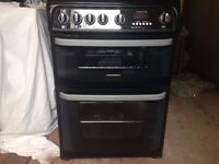 CANNON BLACK DOUBLE OVEN ALL GAS COOKER
