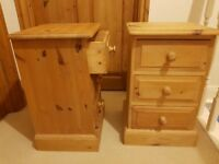 Bedside Cabinets Solid Pinewood (Dovetailed)