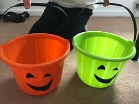 Halloween trick or treat buckets