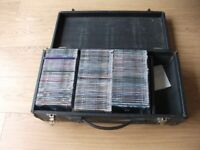 116 CD Singles In Original CD Cases Stored in Black Carry Case (All Different Genres).